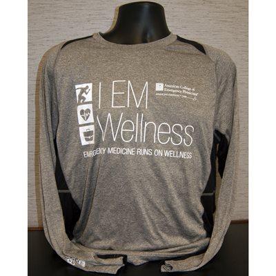 """Mens """"Wellness"""" Long Sleeve T-Shirt - M"""