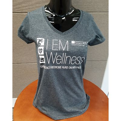 "Ladies ""Wellness"" V-Neck T-Shirt - MEDIUM"