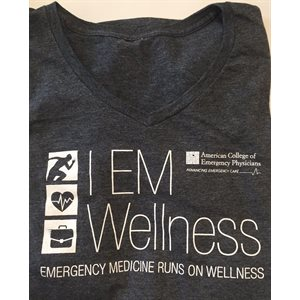 "Ladies ""Wellness"" V-Neck T-Shirt - MEDIUM"